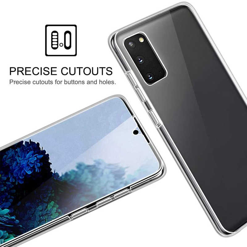 360 Full Body Silicone Casing untuk Samsung Galaxy S20 FE 5G Note20 Ultra S10 Note10 Lite S9 S8 Plus s7 Edge M11 M21 M30S M31 Cover