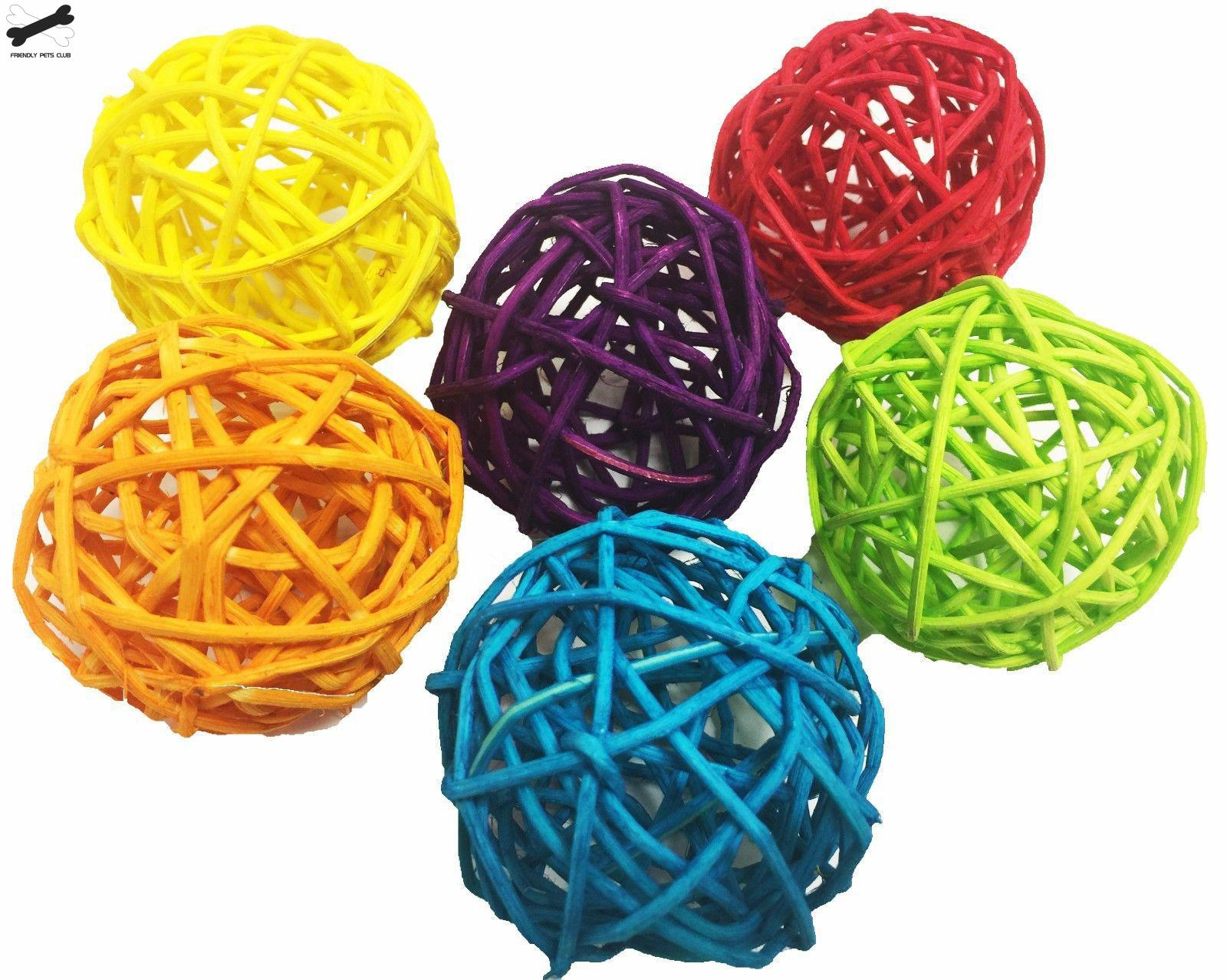 Natural Primary Color Colored Takraw Ball Parrot Bite Toy Ball Pet Bird Foot And Foot Catching Foot Toy