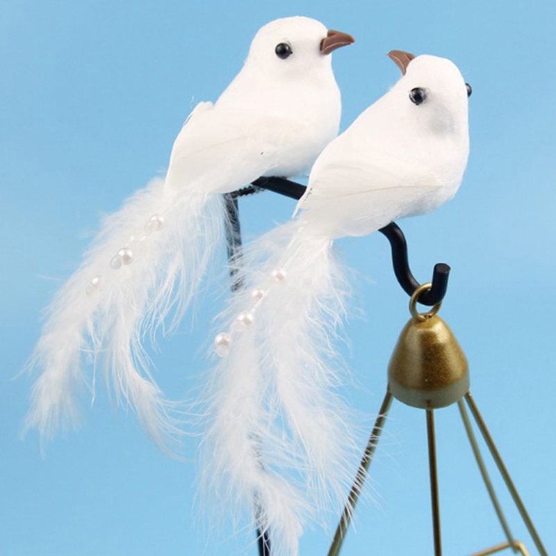 1pcs Artificial 3D Simulation Bird Foam Feather Bird DIY Party Crafts Ornament Props Home Garden Decor Wedding Decoration
