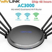 Беспроводной Wi-Fi роутер Wavlink AC3000, гигабитный, трехдиапазонный, 2,4/5 ГГц, Wi-Fi роутер, USB 3,0
