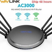Wavlink routeur/répéteur Wi Fi intelligent tribande MU MIMO, 2.4/5Ghz, Gigabit AC3000, USB 3.0
