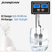 Online PH & EC Conductivity Monitor Meter Tester ATC Water Quality Real time Continuous Monitoring, for Aquarium