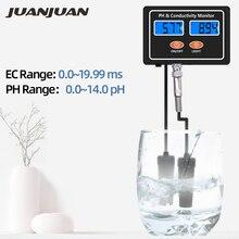 Онлайн PH & EC измеритель электропроводимости тестер ATC качества воды в реальном времени непрерывный мониторинг для аквариума