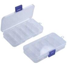 2Pcs 10-Slot Portable Plastic Resistors Electronic Component Case Box