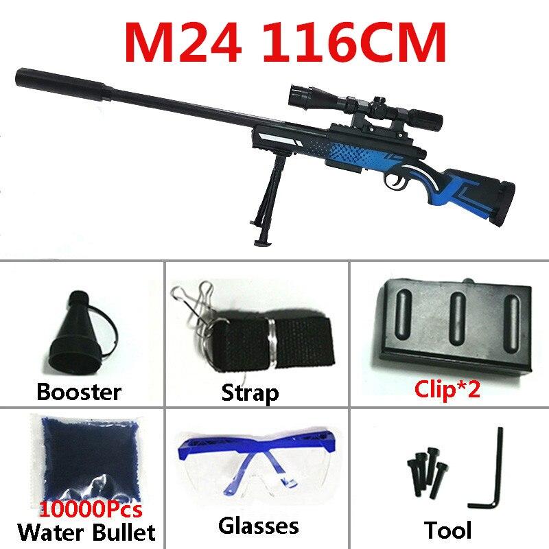 Garçons jouets pistolets M24 Mini arme Sniper fusil pistolet Armas 86cm sécurité eau Paintball balle en plein air jouets CS jeux tirer pour cadeau