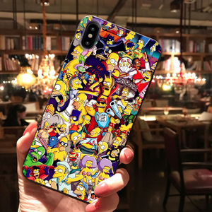 Homer J.Simpson Black Silicone phone Case cover For iPhone X XR XS Max 11 11Pro Max 6s 7 8 Plus Bart Simpson funny cartoon coque(China)