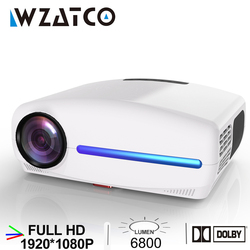WZATCO C2 1920*1080P Full HD LED Projector with 4D Digital Keystone 6800Lumens Home Theater Portable Beamer LED Proyector