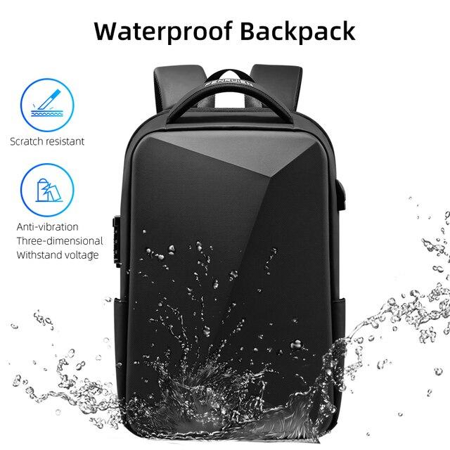 Fenruien marca portátil mochila anti-roubo à prova dusb água mochilas escolares carregamento usb saco de viagem de negócios mochila novo design 5