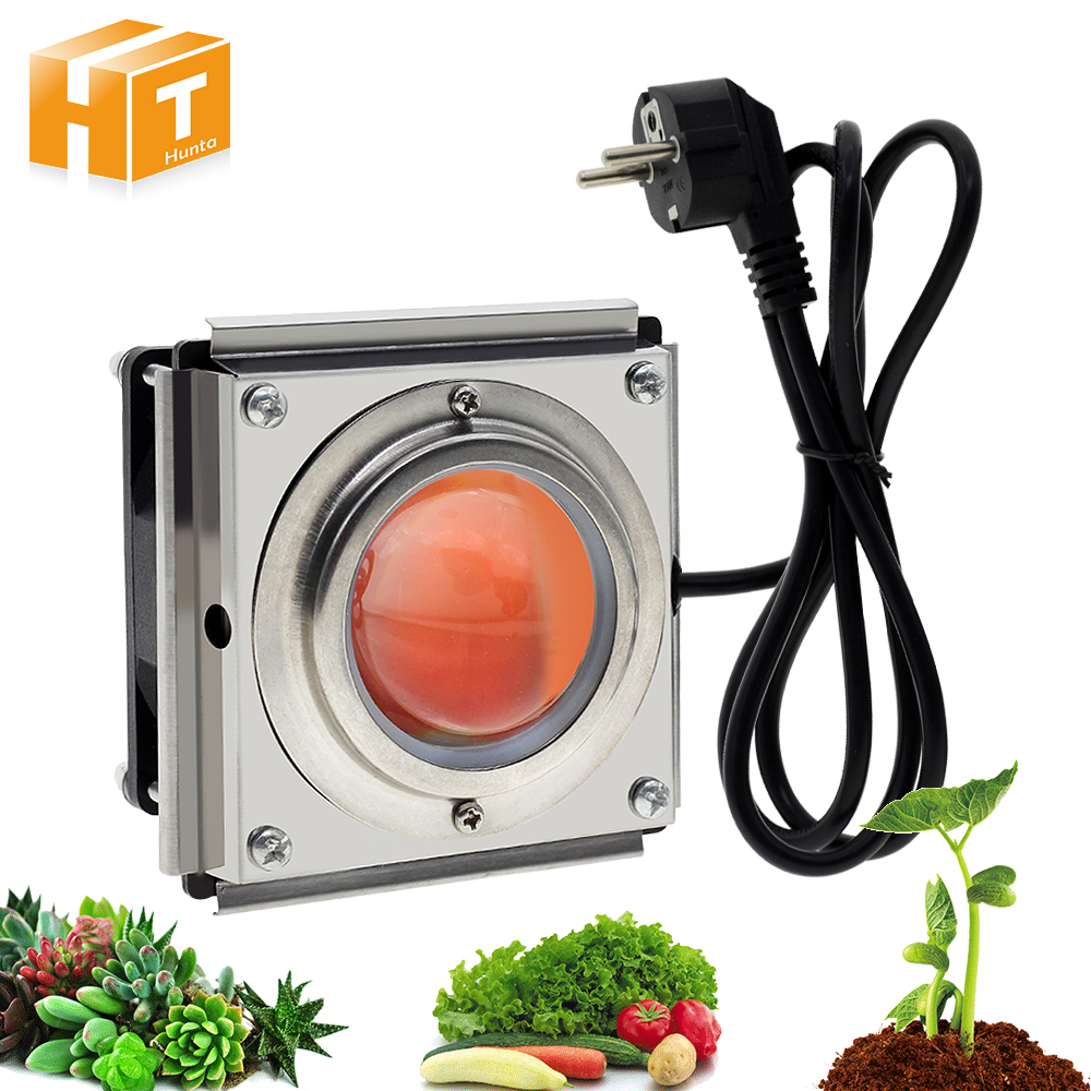 300W COB LED Grow Light Full Spectrum 380nm~800nm With Cooling Fan For Hydroponic Greenhouse Plant Growth Lighting