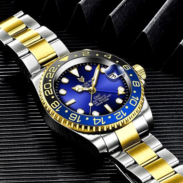 Фото lige новые часы мужские брендовые автоматические механические цена