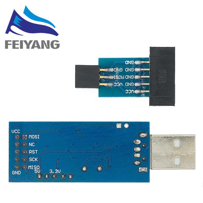 """10Pin до 6 Pin адаптер доска + USBASP USBISP AVR программист USB ATMEGA8 ATMEGA128 ATtiny/CAN/PWM 10Pin провод модуль """"сделай сам"""""""