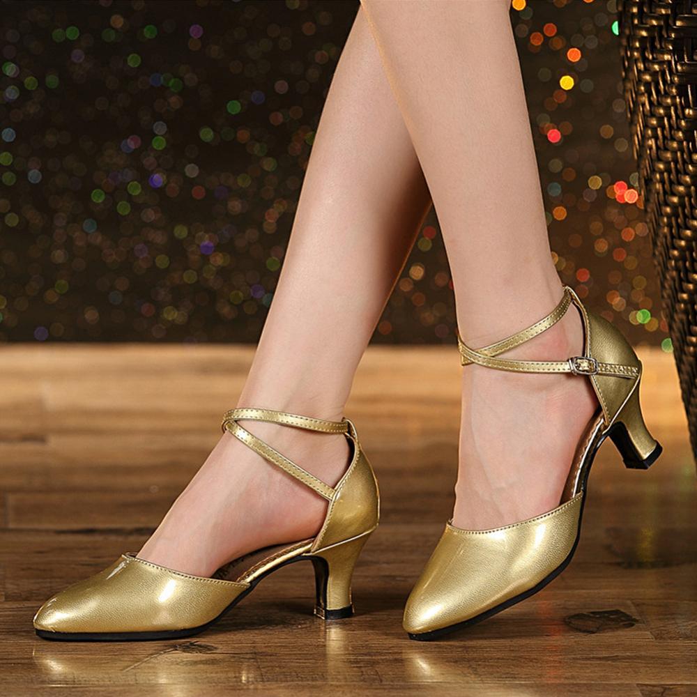 Hipposeus Girls Modern Latin Dance Shoes Women for Ladies Ballroom Tango Dancing Shoes Closed Toe Rubber sole Dropshipping