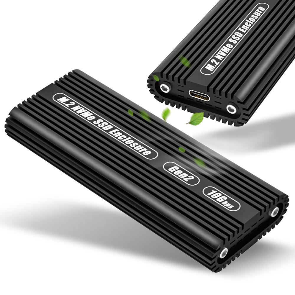 ASM2362 type-c Gen2 SSD PCIE à semi-conducteurs protocole m. 2 NGFF NVME boîtier de disque dur mobile