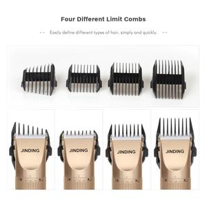 Image 4 - ماكينة قص الشعر الكهربائية من JINDING للرجال والنساء قابلة لإعادة الشحن 110 240 فولت 5h كليبرز لاسلكي