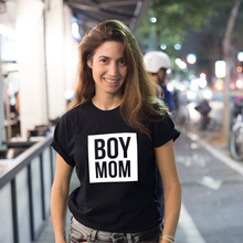 Boy Mama T Shirts Funny Mom Life Women Tops Tee Mother's Day