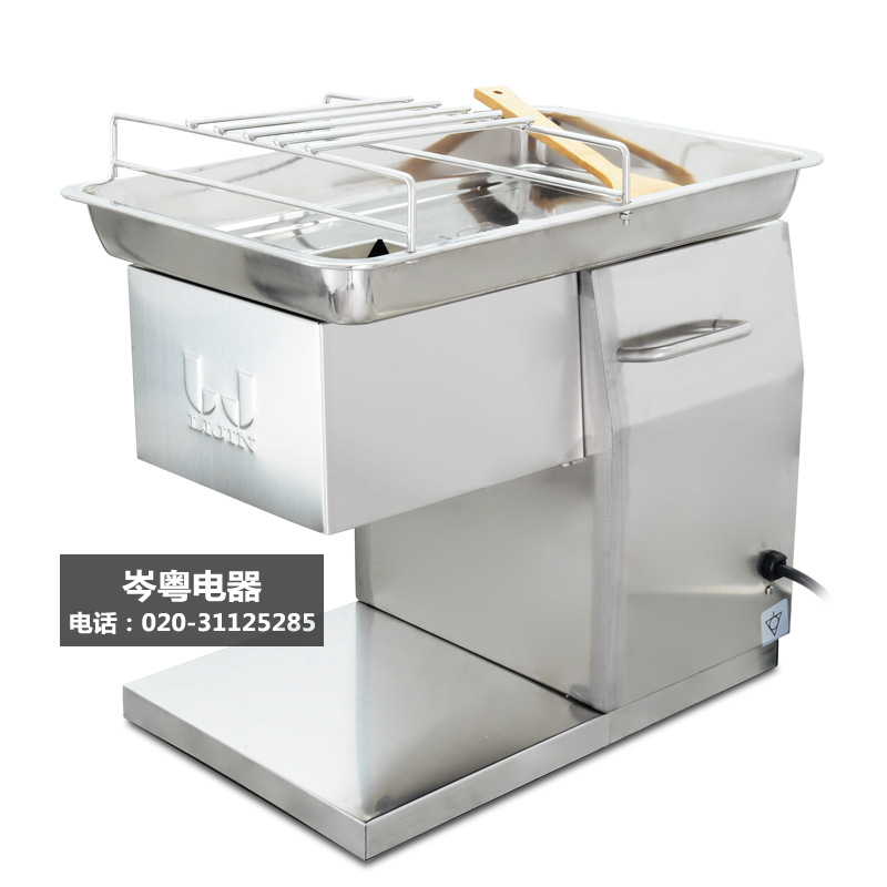 110V 220V Stainless Steel Meat Slicer Cutter QX Desktop Type Meat Cutter Meat Cutting Machine 2 5 10mm Blade Size Can Be Choose in Meat Grinders from Home Appliances