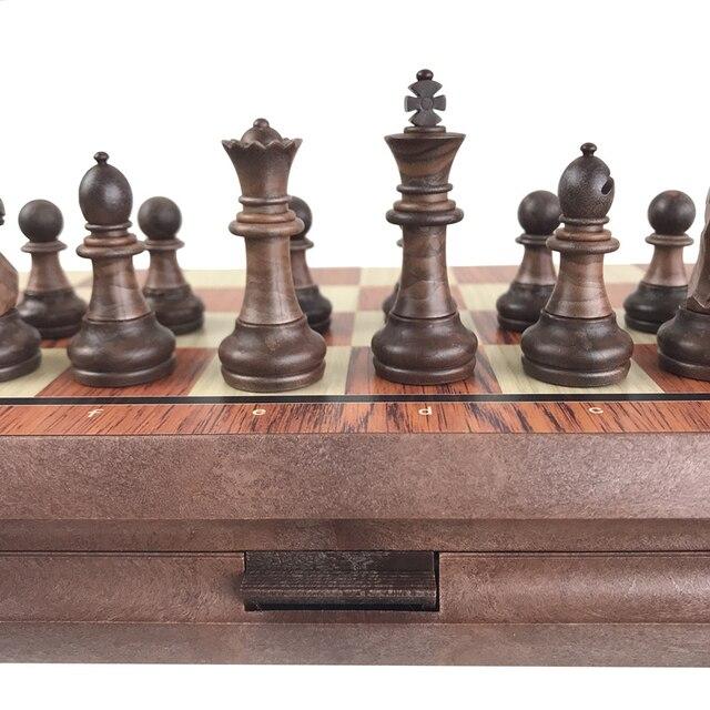 Jeu de société magnétique International, jeu d'échecs exquis, pliable en plastique, cadeau et divertissement 6