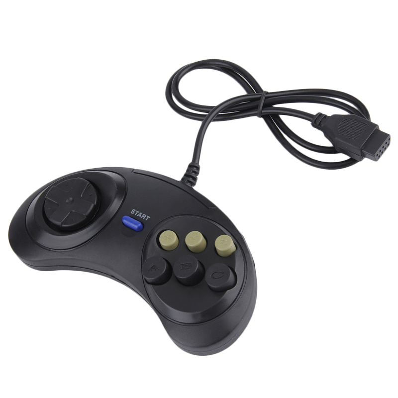 Classic Retro 6 Buttons Wired Handle Game Controller Gamepad Joystick Joypad For Sega Md2 Pc Mac Mega Drive Gaming Accessories