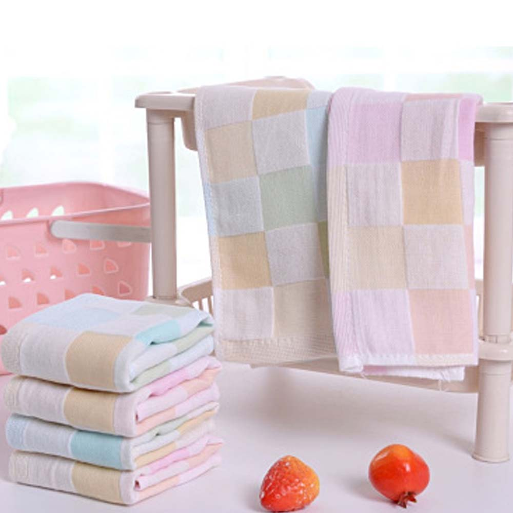 Born Ultra Soft Baby Cotton Bath Towel Feeding Wipe Cloth Square Face Hand Small Towel For Infant Kids Solid Color Feeding Towel