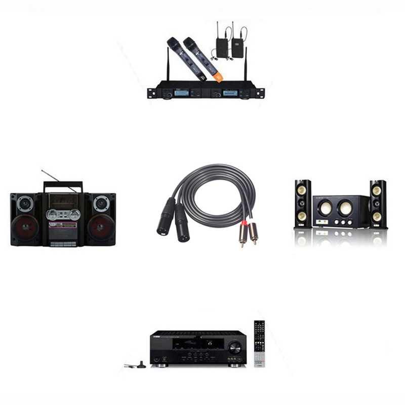Аудио кабель 2 RCA 2 пары XLR 3-контактный Мужской усилитель внутренней связи Гибридный разъем аудио-и видеокабель с двойным XLR Сделано в Китае Двойной RCA линия