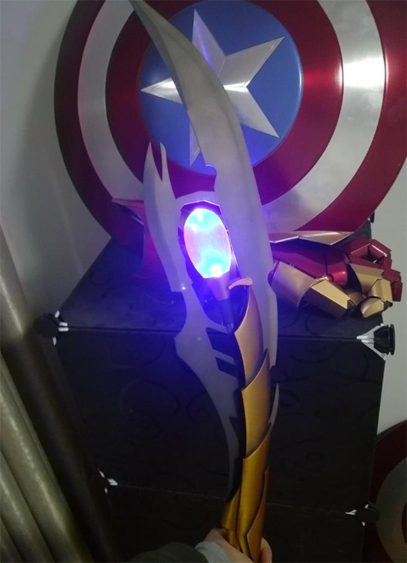 The Avengers 4 1//1 Scale Loki/'s Chitauri Scepter Metal Model Props Toy IN STOCK