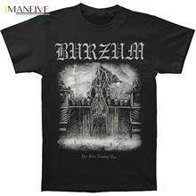 цена Burzum Men's Det Som Engang VAR T-Shirt Black T Shirt O-Neck Fashion Casual High Quality Print T Shirt Fashion 2019 Top Tee