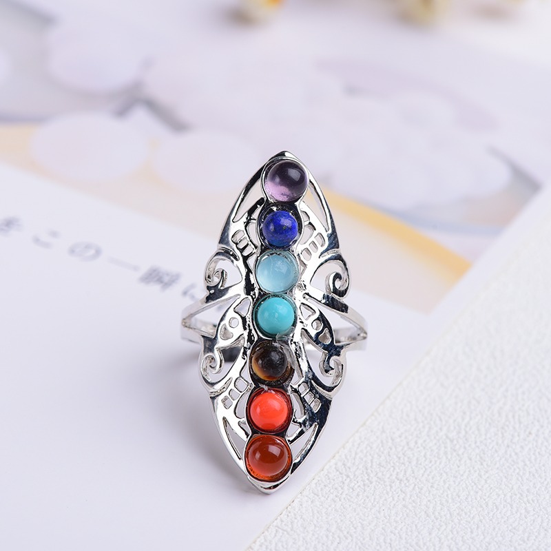 Natural Quartz  gems ring stones and crystals rose quartz ametht party 1pcFashion jewyselry DIY gift couple jewelry-0