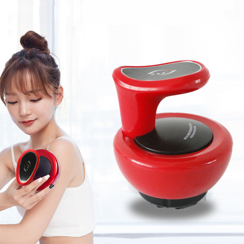 Electric Guasha Massager Ultrasonic RF Scraping Cupping Fat Removal Body Slimming Stimulate Acupoint Detoxification Massage Tool