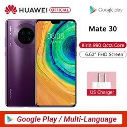 Original huawei mate 30 câmeras traseiras triplas do smartphone 40mp 6.62 kirkirtela cheia kirin 990 27 w sem fio qc