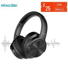 Mixcder e9 bluetooth fone de ouvido anc cancelamento de ruído ativo sem fio fones com microfone sobre a orelha alta fidelidade graves profundos para tv