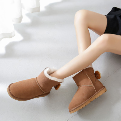 neve genuína pele de carneiro botas femininas sapatos