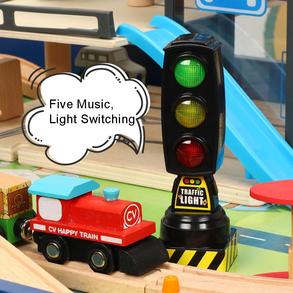 Simulation Traffic Signs Stop Music Light Block Model Early Education Kids Toy Game Model Toy Educational Toy Gifts For Kids New