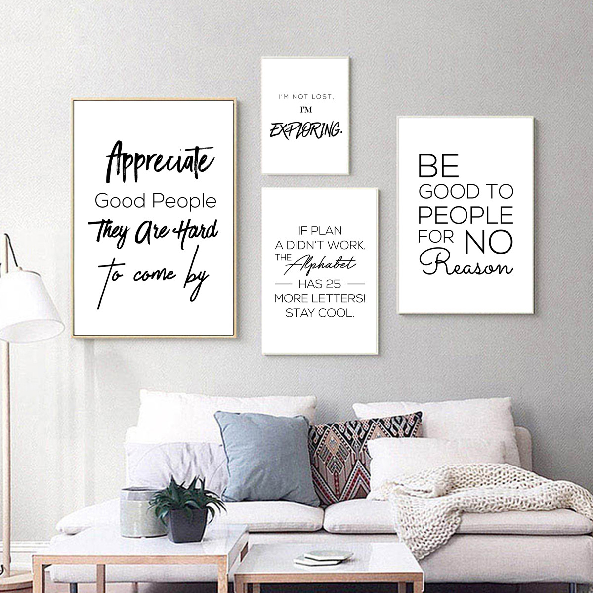 Minimalis Menginspirasi Kutipan Bahasa Inggris Gambar Poster Kanvas Cetak Lukisan Seni Dinding Ruang Tamu Dekorasi Rumah Painting & Calligraphy  - AliExpress