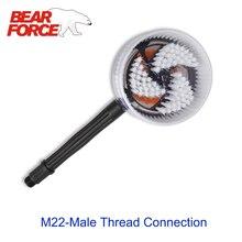 Вращающаяся круглая щетка, жесткая моечная щетка для мойки высокого давления, с резьбой M22
