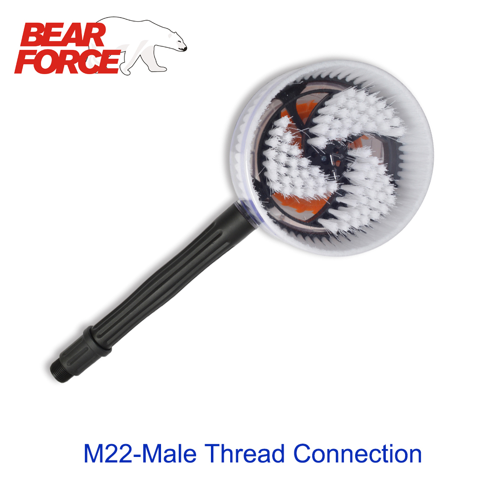 Rotary Round Brush Water Cleaning Washing Brush Rigid With M22 Thread Connection For High Pressure Washer Car Washer
