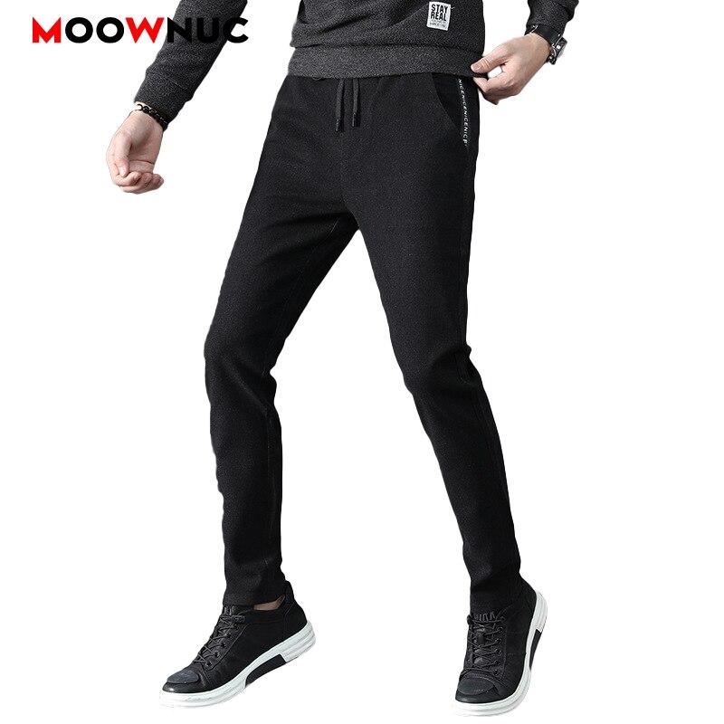 Men's Trousers Fashion Autumn Brand Packets Long Pants Cotton Thermal Pencil Pants Casual Hombre Business Male Slim MOOWNUC New