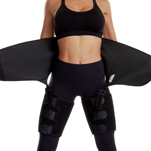 Adjustable Waist Bandage Sweat Body Shapers One-piece Hip Belt Arm Sweat Belt Buttocks Trainer Slimming Shaper Belt Hot 4