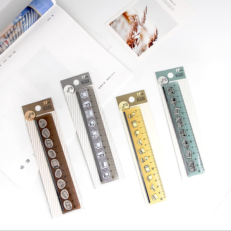 P146H Bo Fu Stationery Plastic Straight Ruler 15 Cm For Student Exam Mapping Measuring Tools Single Handle