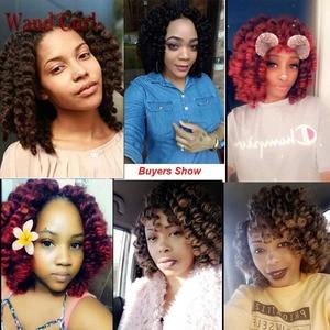 Image 5 - Bacchetta ricciolo trecce alluncinetto corti capelli di rimbalzo giamaicano bacchetta nera ricciolo donna trecce sintetiche estensioni dei capelli 20 radici/confezione