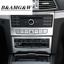 цена на Car styling Interior Air Conditioning CD Panel decoration Cover Trim For Mercedes Benz E Class Coupe W207 C207 auto Accessories