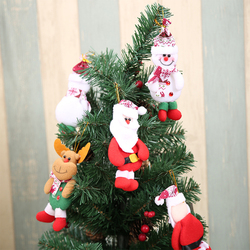 2019 Merry Christmas Ornaments Gift Santa Claus Snowman Tree Toy Doll Hang Decorations For Home Christmas Party New Year Gift 4