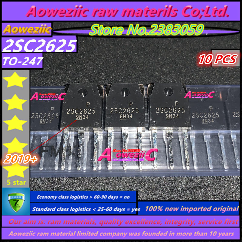 Aoweziic  2019+ 100% New Imported Original 2SC2625 C2625 TO-247 High Power Triode 10A 450V Switching Power Supply