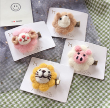 Baby animal wool stereo cartoon hair clip Fashion Wool Hair Clip for Women Elegant Korean Design Snap Barrette Stick Hairpin Hair Styling Accessories ubuhle fashion women full pearl hair clip girls hair barrette hairpin hair elegant design sweet hair jewelry accessories 2019