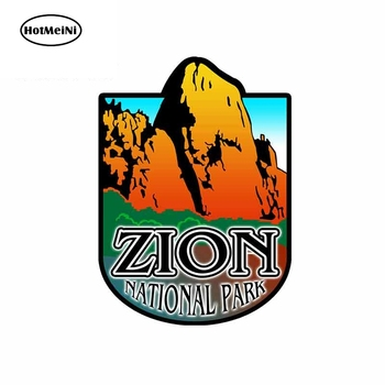 HotMeiNi 13cm x 9.6cm for Zion National Park Blue Funny Car Stickers and Decals for DIY Trunk Bumper Graphics Car Styling image