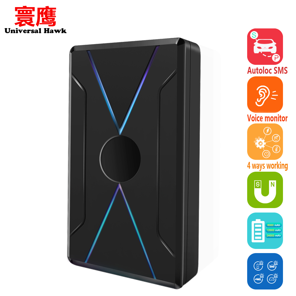 Car Magnet GPS tracker Voice monitor tracking Start stop Auto SMS alarm 4 working modes 12000 mAh Free system Better than TK905