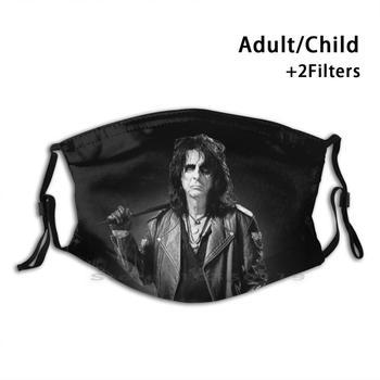 Alice Cooper Print reutilizable Pm2.5 filtro DIY máscara de boca niños rey...