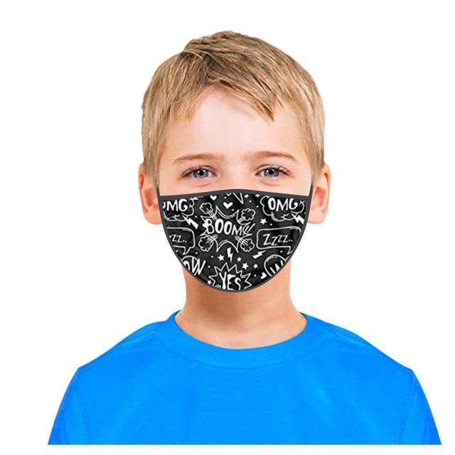 3PC Kids Printed Masks Washable And Reusable Masks For Protection For Adults Scarf Flag Bandana#3 5