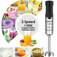 1100W Portable 2 Speed Stainless Steel Electric Blender Fruit Vegetable Nut Juice Smoothie Baby Food Mixer Kitchen Hand Blenders
