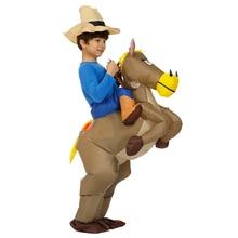 40 đến 59 Inch Cao Trẻ Em Tặng Động Vật Hóa Trang Halloween Dành cho Trẻ Em Bơm Hơi Da Bò Đi Xe Ngựa Ngày Trẻ Em Purim đầm dự tiệc
