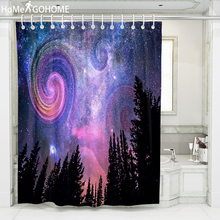 Galaxy Starry 3D Bath Curtain for Bathroom Shower Curtains Waterproof Polyester Fabric Forest Boho tenda doccia